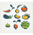 new vegetables collection vector image