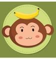 Cute Monkey Head Cartoon vector image