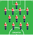 Computer game Croatia Football club player vector image