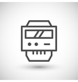 Electric meter line icon vector image