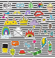 108 patches vector image vector image