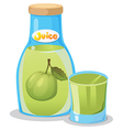 A bottle of guava juice vector image vector image