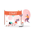 athletics concept for web banner website vector image