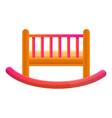 baby crib icon cartoon style vector image vector image