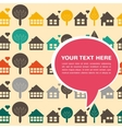 background with houses and trees vector image