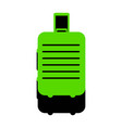 baggage sign green 3d icon vector image vector image