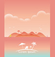 beautiful seascape beach texture style vector image vector image
