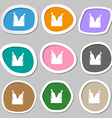 Beer bottle icon symbols Multicolored paper vector image
