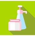 Body care product icon flat style vector image