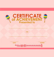 certificate template with pink background vector image