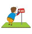 Checking mailbox vector image vector image