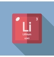 Chemical element Lithium Flat vector image