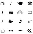 classic icon set vector image vector image