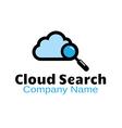 Cloud Search Design vector image vector image