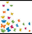 colorful butterfly background stock vector image