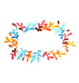 colorful weed plant wreath frame watercolor vector image