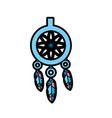 cute dream catcher with feathers design vector image vector image