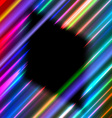 Diamond frame in neon rays vector image