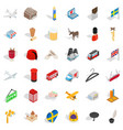 dollar icons set isometric style vector image vector image