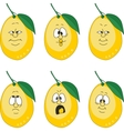 Emotion yellow lemon set vector image vector image