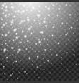 falling snow winter background beautiful snowfall vector image