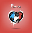 flag of france in the form of a heart vector image vector image