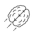 flying human brain linear icon vector image vector image