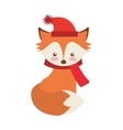 fox winter clothes character vector image