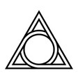 geometrical figure circle inscribed in a triangle vector image