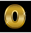 Golden font type letter O vector image vector image