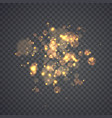 golden glowing lights effects vector image vector image