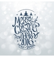 Hand Drawn Christmas Banners Typography vector image vector image