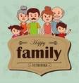 happy family members characters vector image vector image