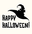 happy halloween title and witch hat on the white vector image vector image