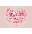 Happy Mothers Day with cute hearts vector image