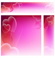 heart website banners vector image vector image