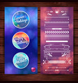 holidays and celebration labels and borders design vector image
