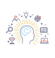 Human mind process vector image