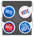 Left and right side signs - Vote vector image vector image