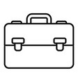 manager suitcase icon outline style vector image vector image