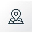 map icon line symbol premium quality isolated vector image