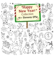 Merry Christmas and Happy New Year sketch vector image vector image