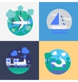 Methods of travel vector image