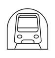 metro linear icon vector image vector image