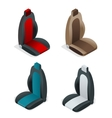 Modern set of car seat icons Editable automotive vector image vector image