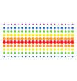 network shape halftone spectral array vector image vector image