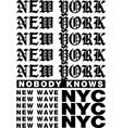 new york slogan vector image