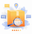 parcel tracking vector image