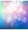 Pink and blue starry glitter toned bokeh vector image vector image