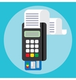 Pos terminal in flat style payment vector image vector image